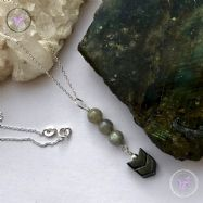 Labradorite & Hematite Arrow Pendant Necklace